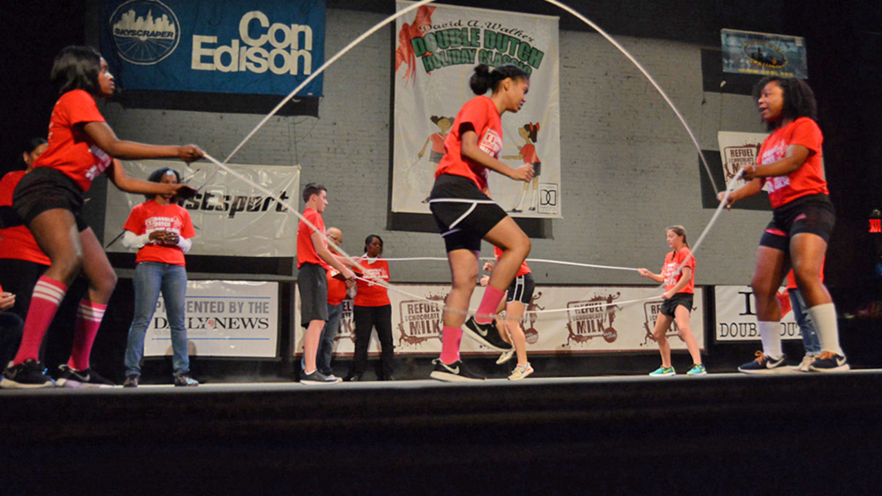 Double Dutch demonstration with members of the National Double Dutch League™