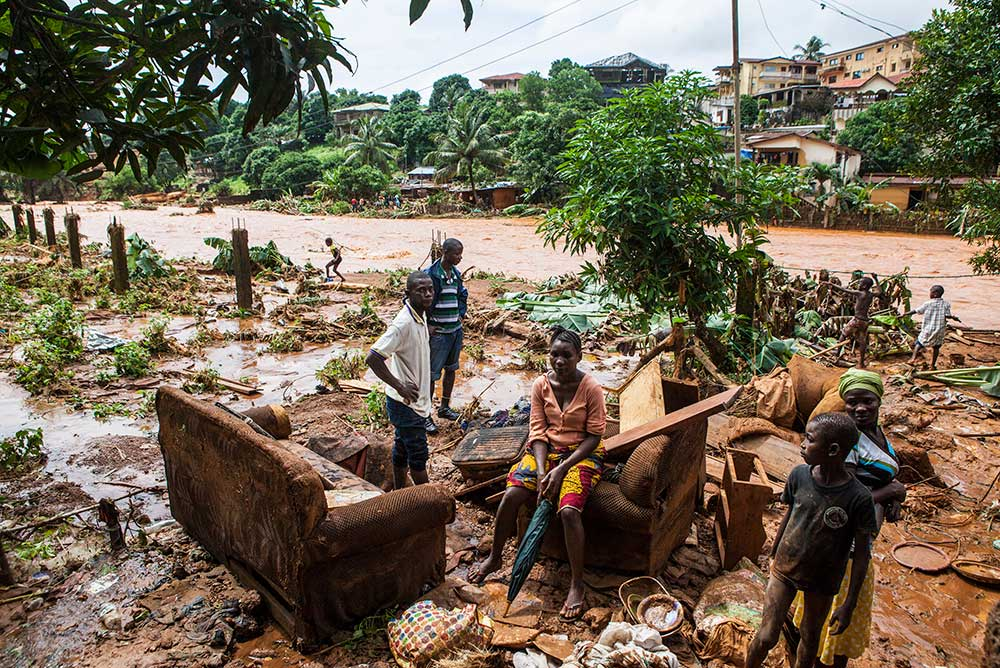 After flooding in Freetown, Sierra Leone, 2017.
