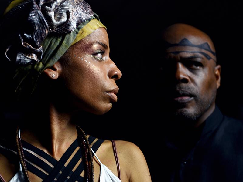Alexandria Danielle King as Antigone and Ty Jones as Creon