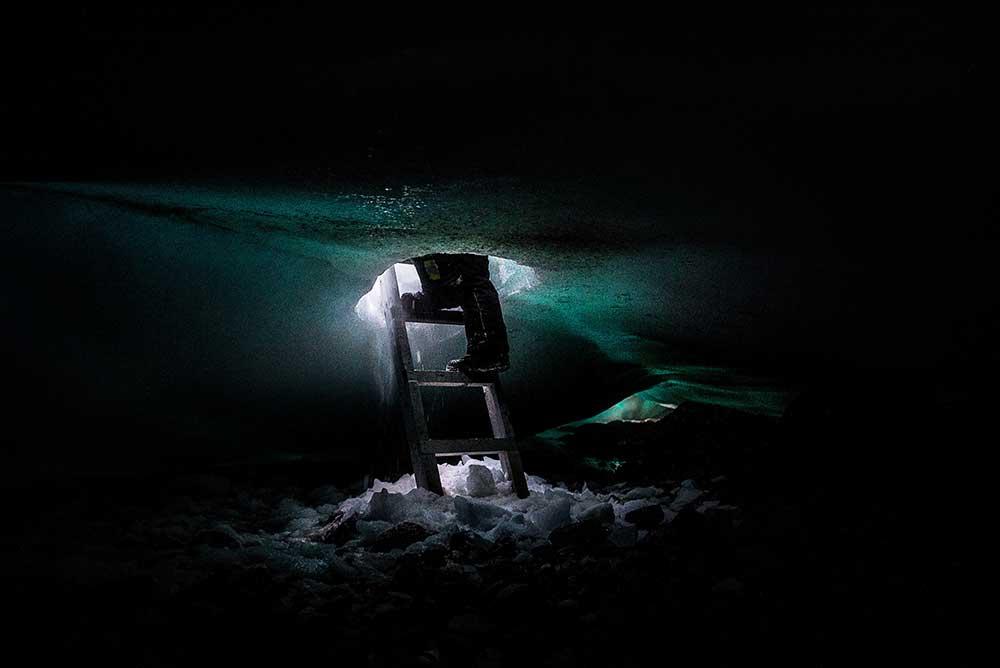 Ice cave in Kangiqsujuaq, Nunavik, Quebec, 2017.